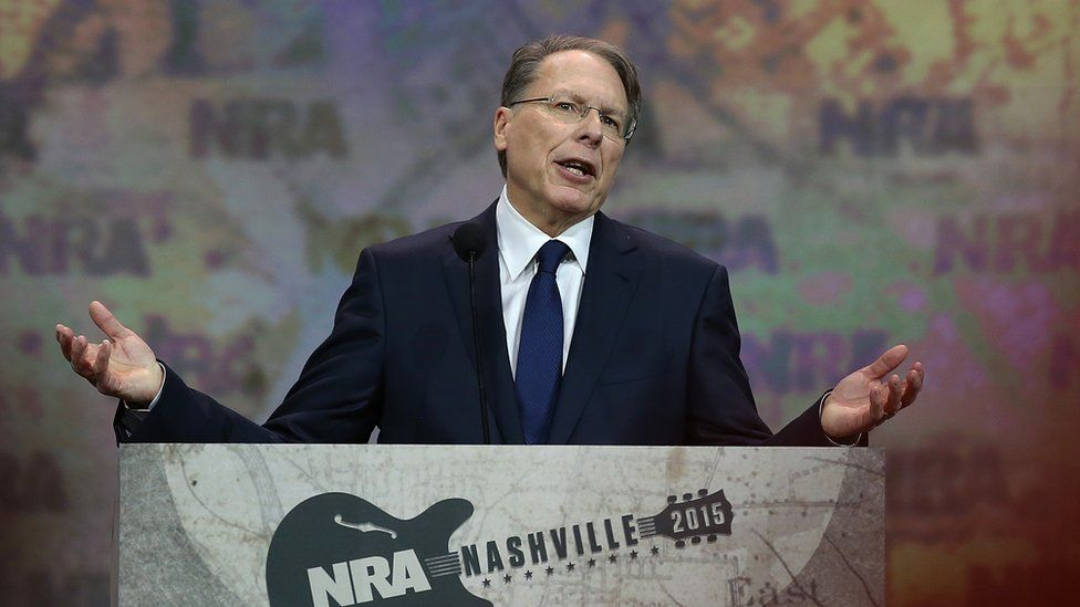 NRA executive vice president Wayne LaPierre speaks during the NRA-ILA Leadership Forum at the 2015 NRA Annual Meeting & Exhibits on April 10, 2015 in Nashville, Tennessee