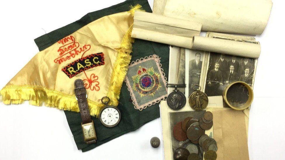 Private John Trickett coin memorabilia