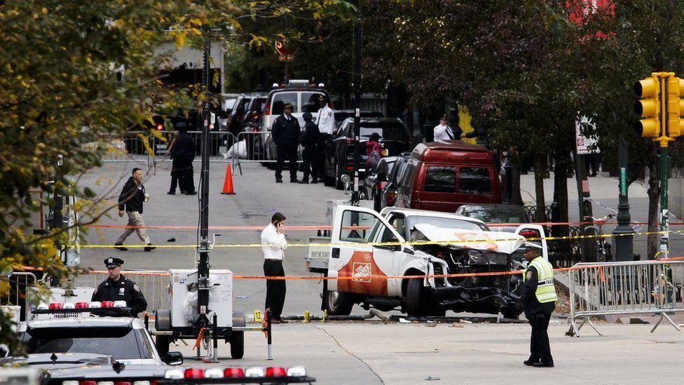 New York attack scene