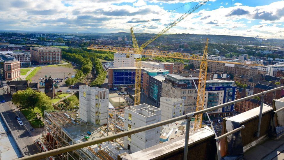 Construction - The construction of Glasgow`s International Technology and Renewable Energy Zone which includes the Inovo building and the Technology and Innovation Centre.