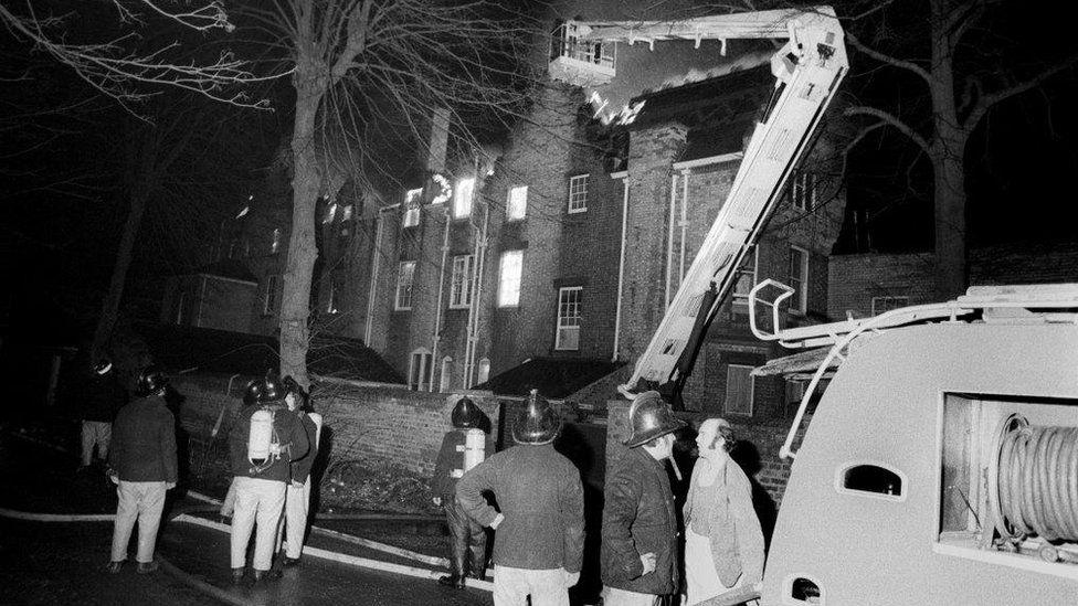 Fire in Hessle in 1977