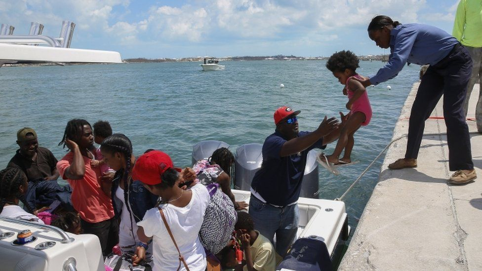 Thousands of people are attempting to flee Great Abaco and Grand Bahama, two of the worst-hit areas