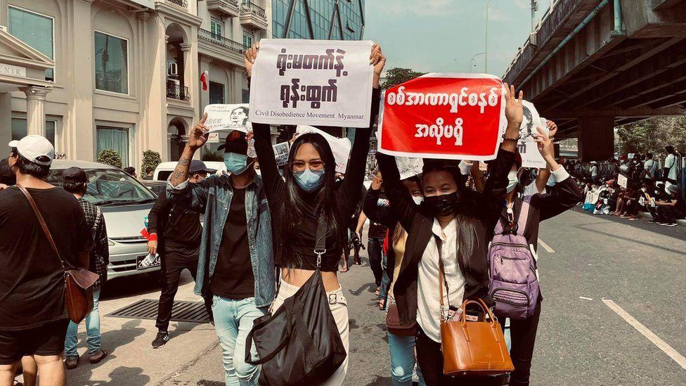 Han Lay protests
