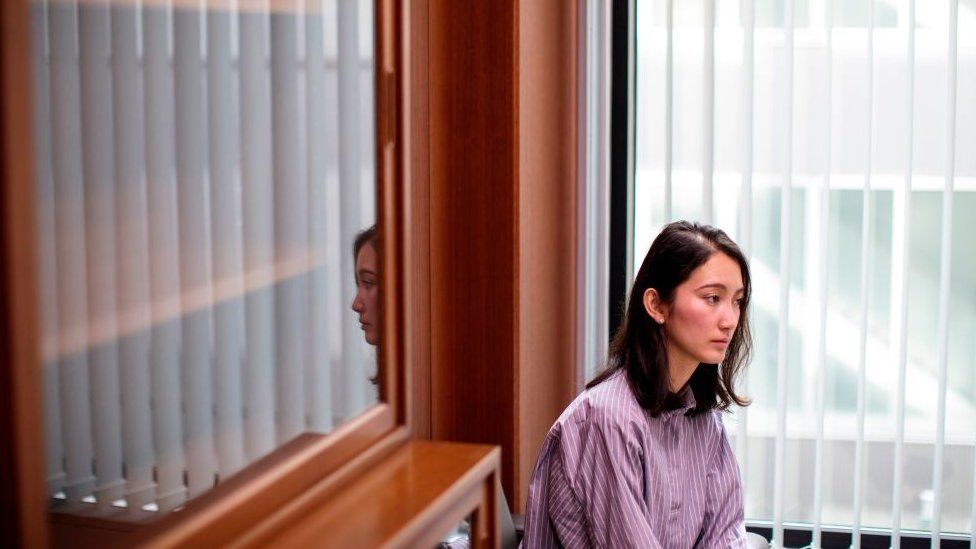 In this picture taken on January 30, 2018 Japanese journalist Shiori Ito, who accused a television newsman of raping her in 2015, poses for a picture in Tokyo
