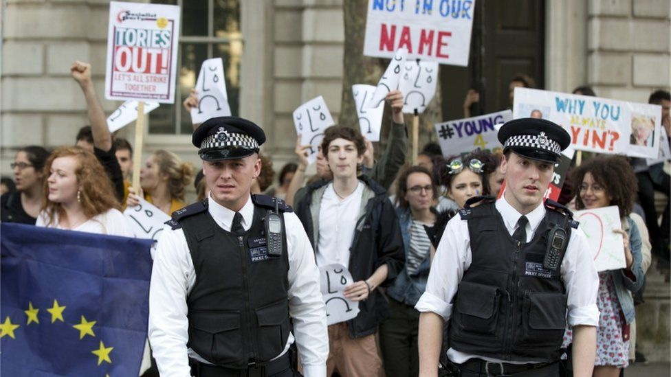 Protest in Downing Street