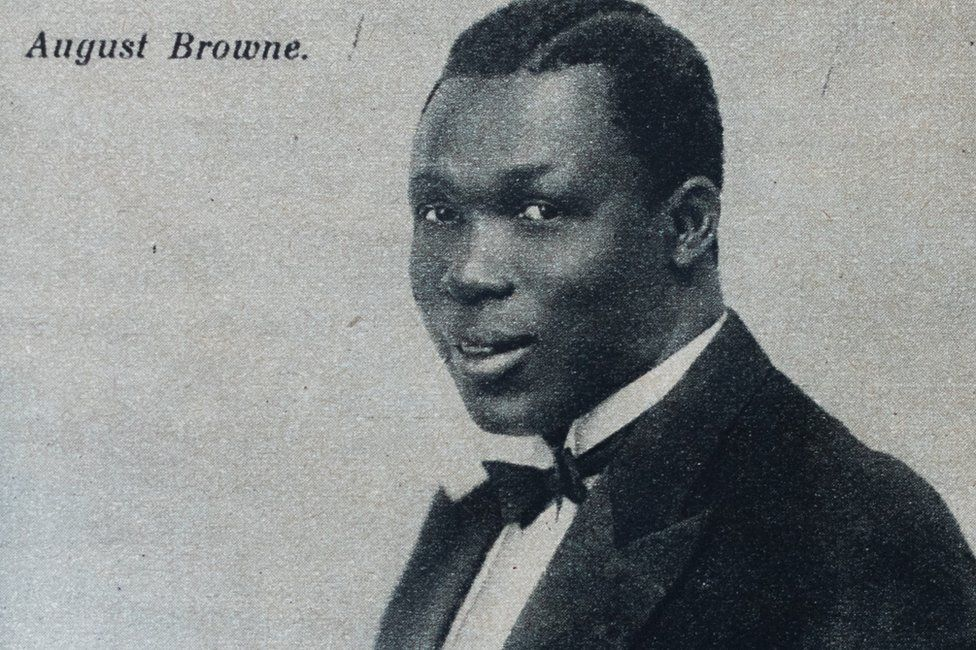 Agboola Browne in a suit
