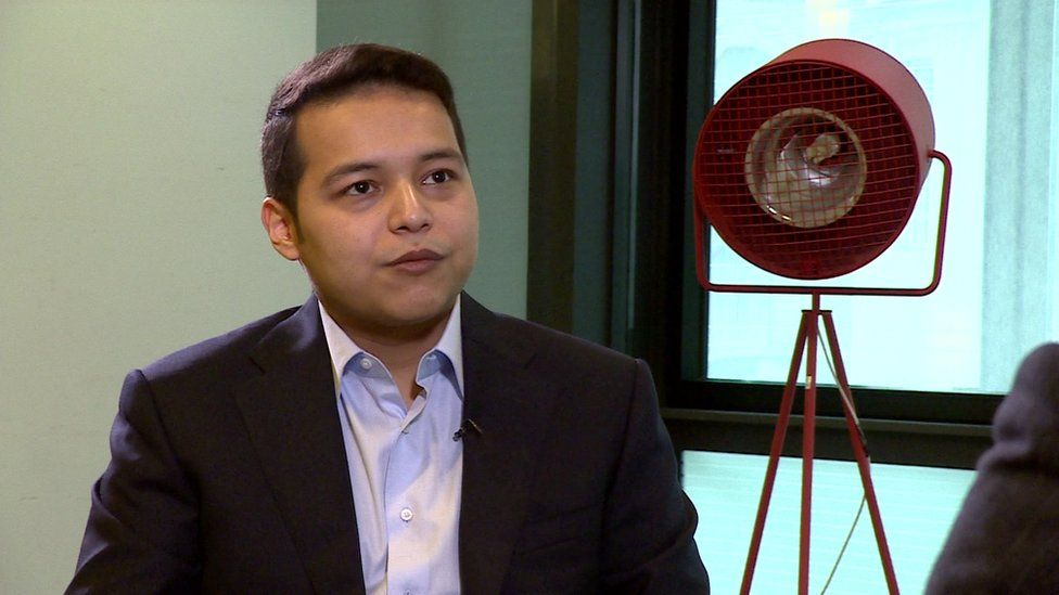 Islam Karimov Junior during his interview with the BBC's Uzbek service