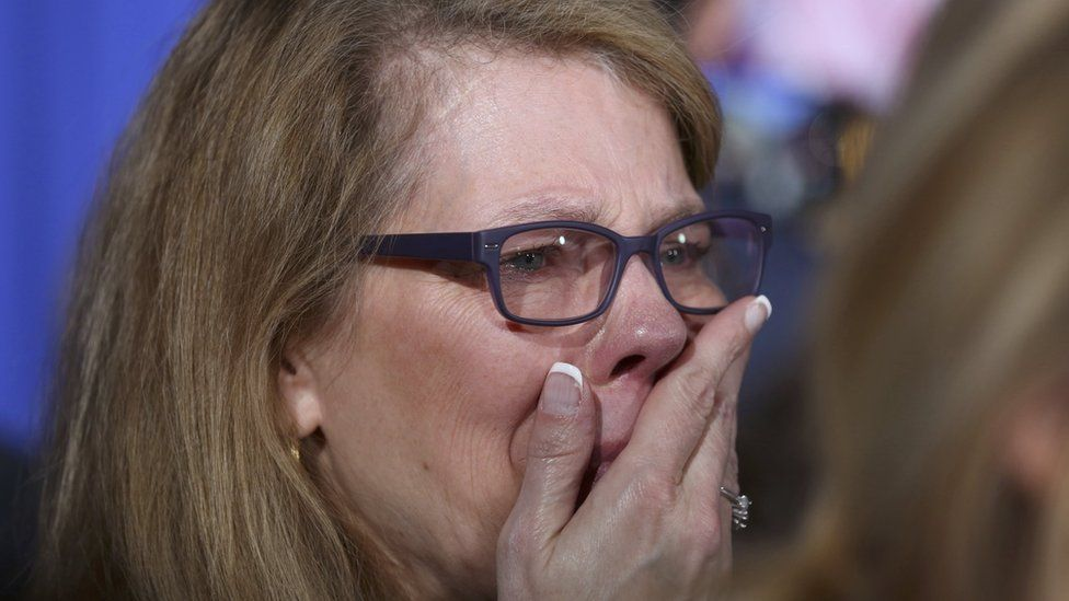 Cruz fan cries in Indianapolis