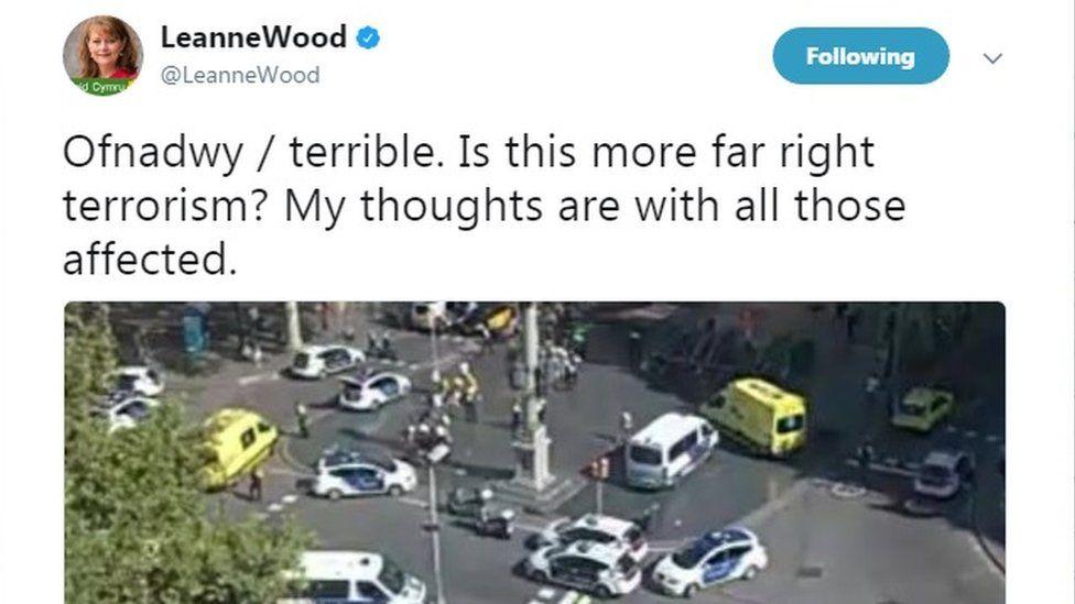 Leanne Wood tweet