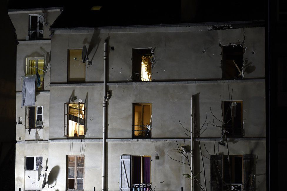 Saint-Denis - scene of police raid