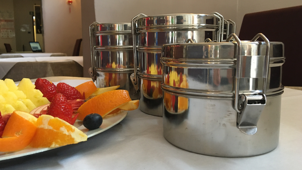 The tiffin tins at Asia Sensation restaurant