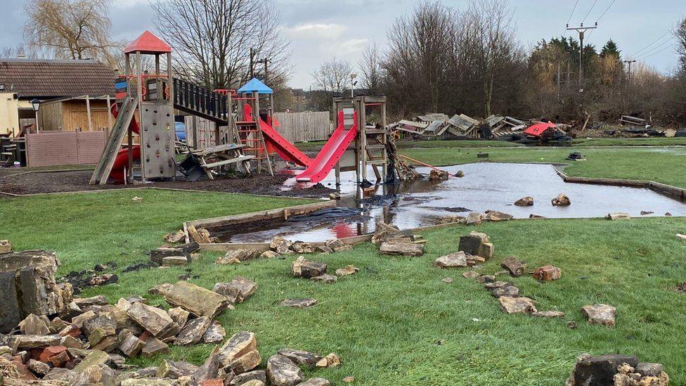Flooding in Mirfield