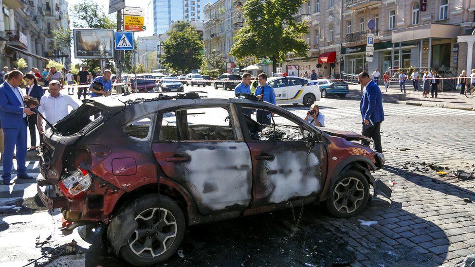 Sheremet's car wrecked by bomb blast in Kiev, 20 July 16
