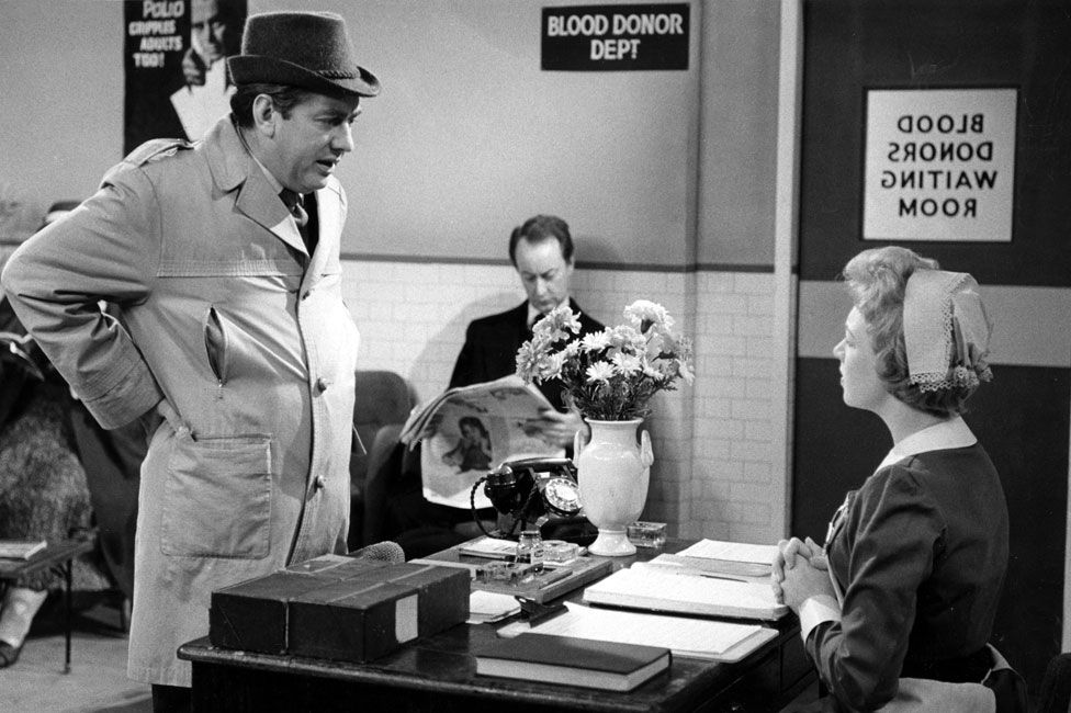 June Whitfield with Tony Hancock in The Blood Donor