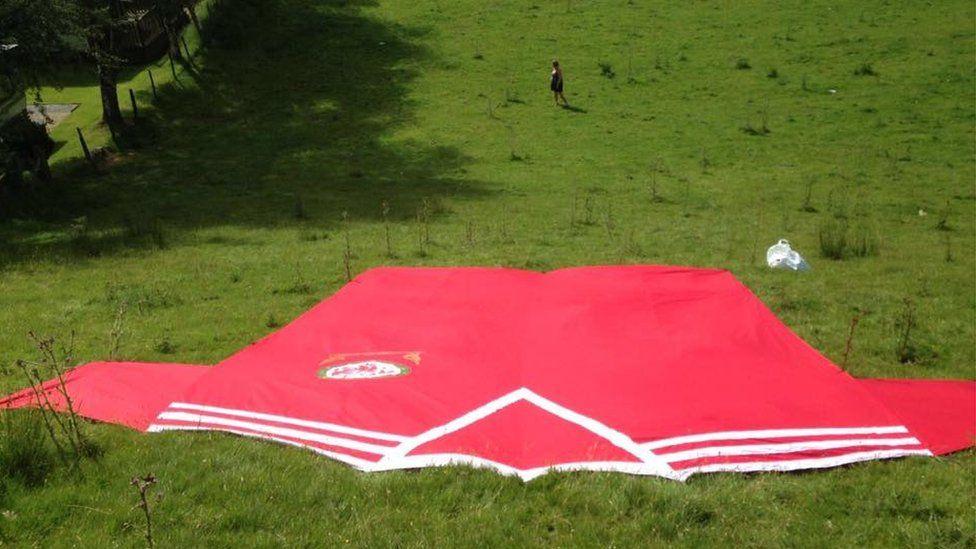 Giant Wales football shirt