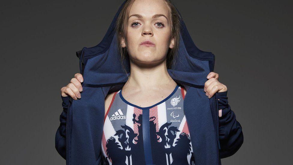 Swimmer Ellie Simmons in her kit