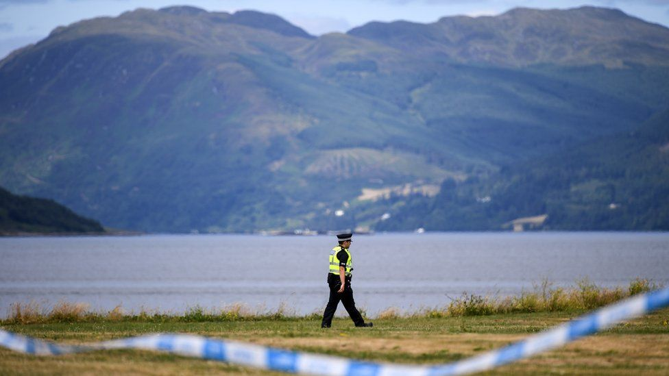 Police officer on Bute