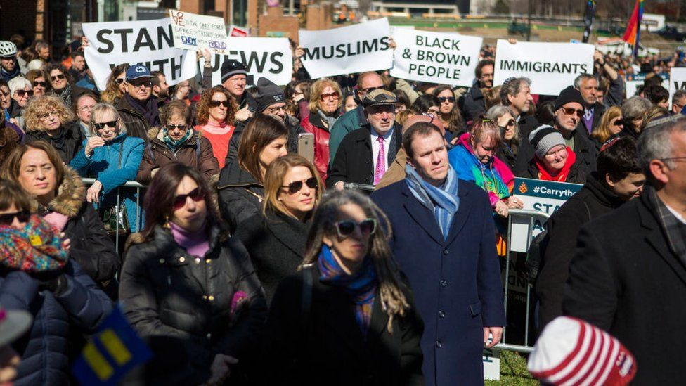 A Stand Against Hate rally was held on Thursday in Philadelphia
