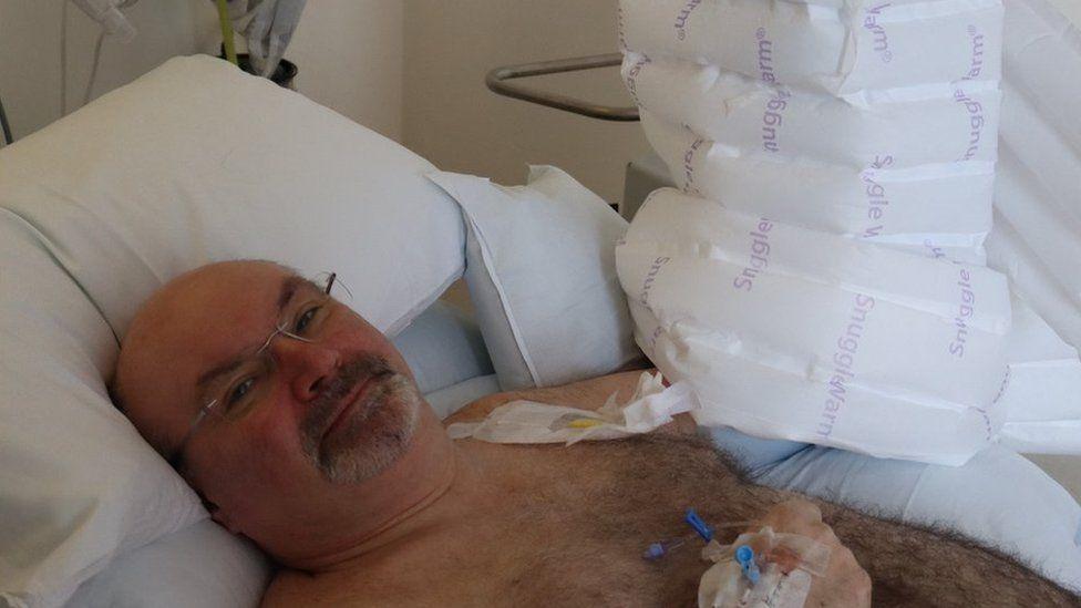 Christopher in hospital
