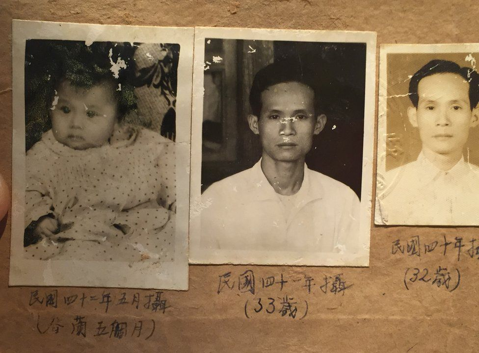 Pictures of Huang Wen-kung and his daughter Huang Chun-lan