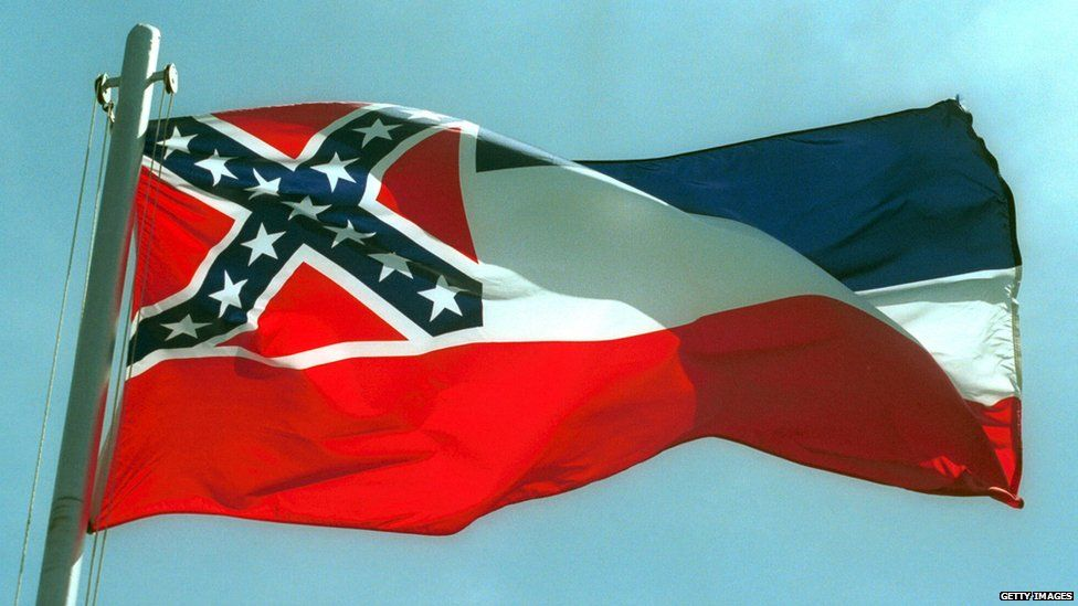 The Confederate battle flag is part of Mississippi's state flag