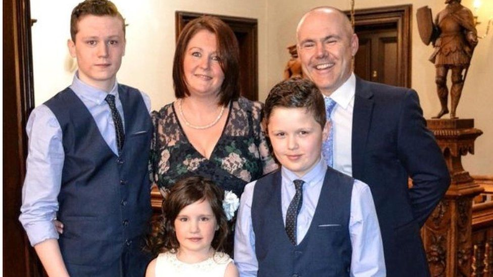 Ceri Reed and family