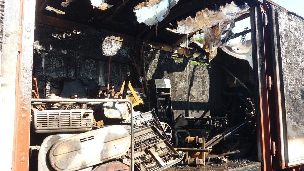 Ian Smith, of Middleton Heritage Railway, said a wagon containing two generators and specialist railway tools, were lost in the blaze