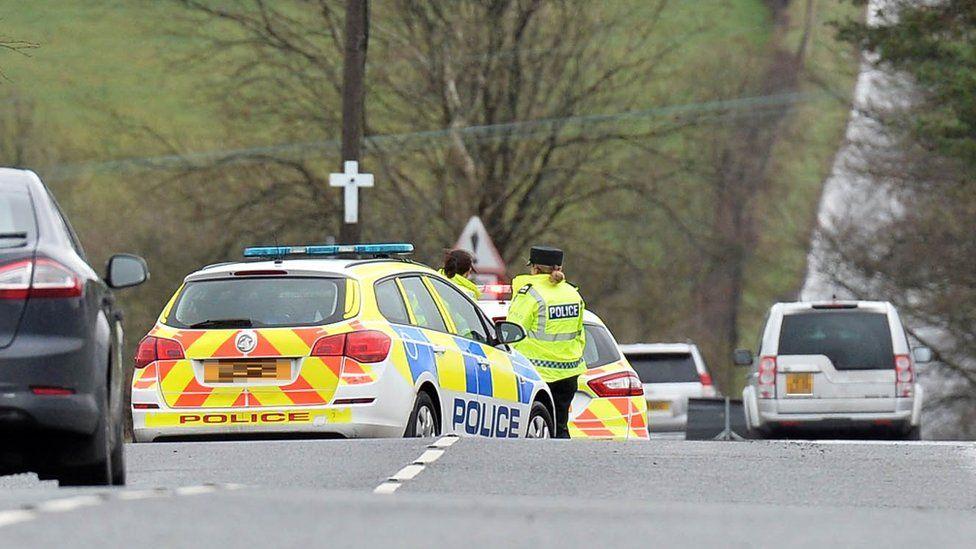 Scene of the crash near Nutts Corner