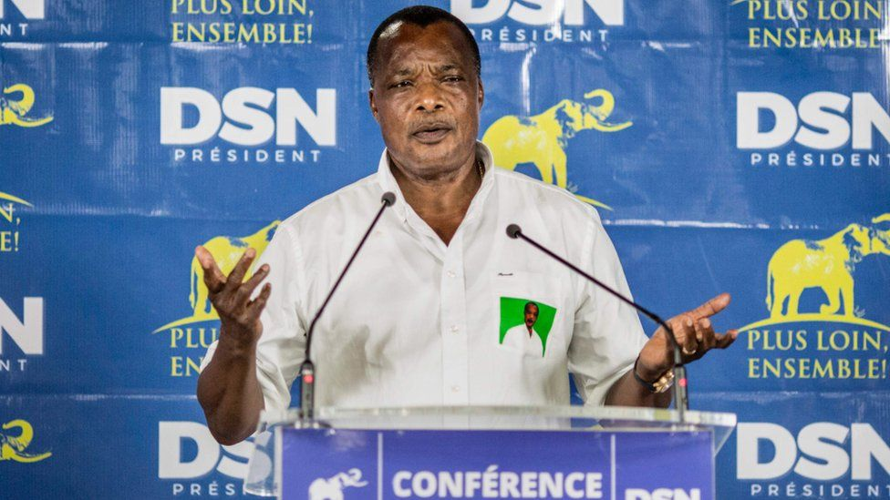 Newly re-elected Congo President Denis Sassou Nguesso