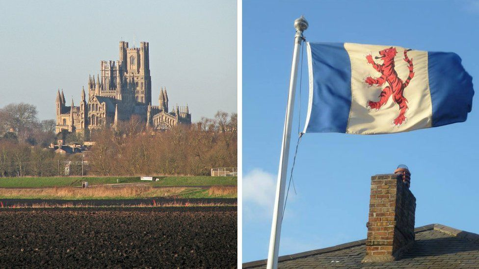 Ely Cathedral and Fenland Flag