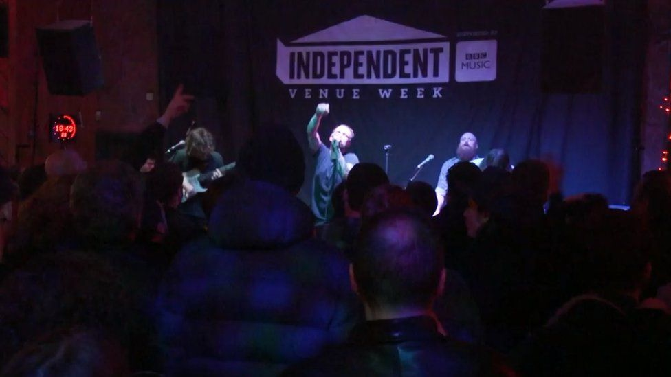 Idles perform at Studio 2 in Liverpool for IVW in 2019