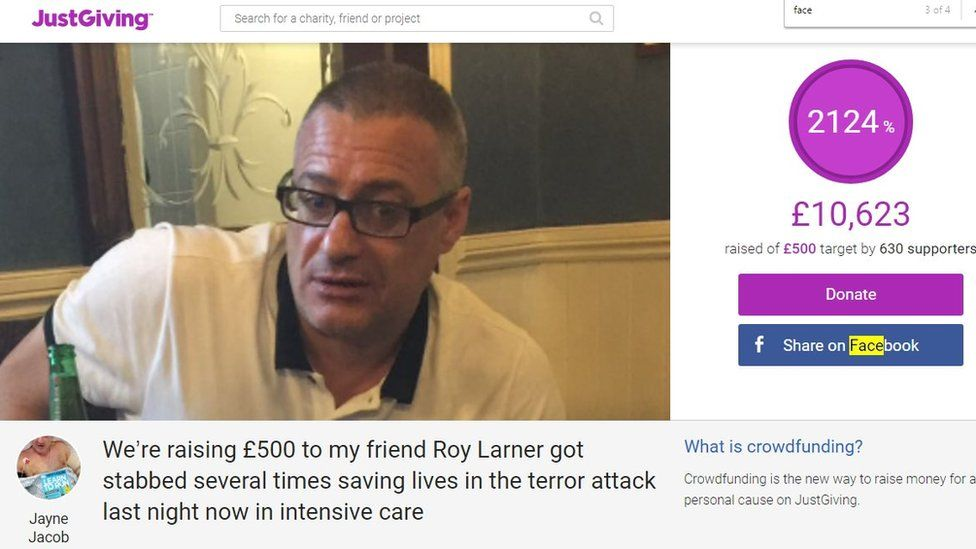 Roy Larner's JustGiving page