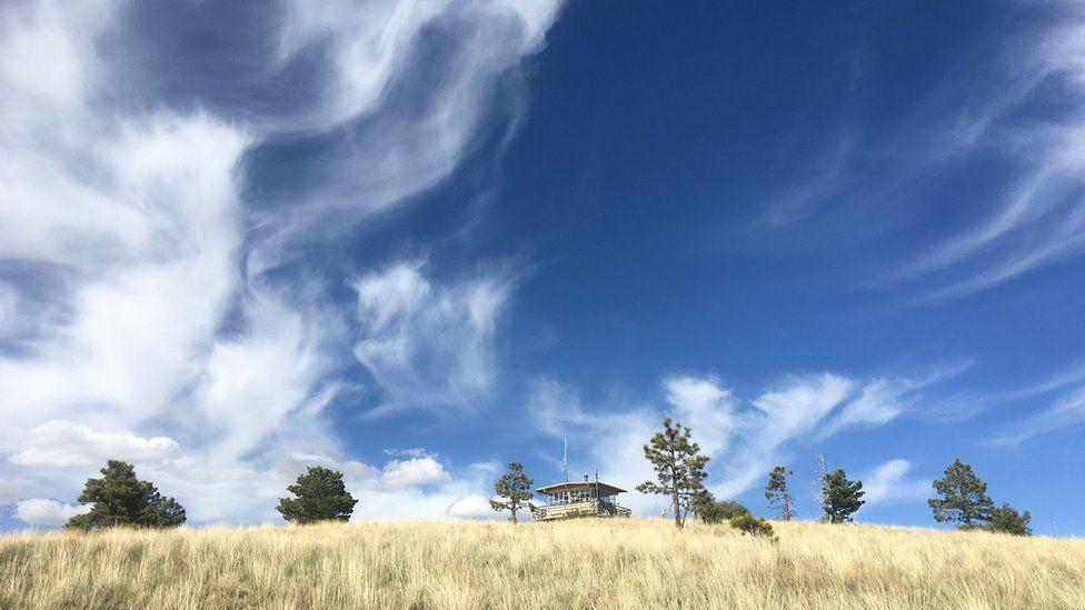 新墨西哥州的森林火災瞭望台