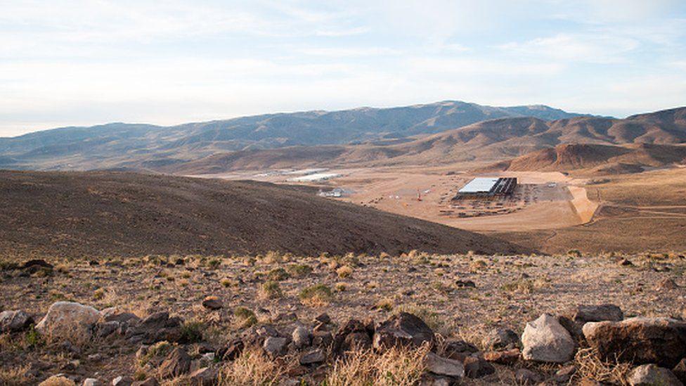 The site of the Tesla Motors Gigafactory east of Reno, Nevada