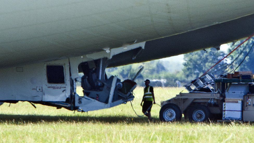 Airlander cockpit damage