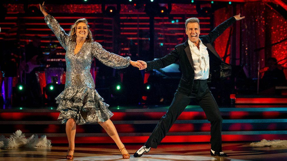 Jacqui Smith and Anton du Beke on Strictly Come Dancing