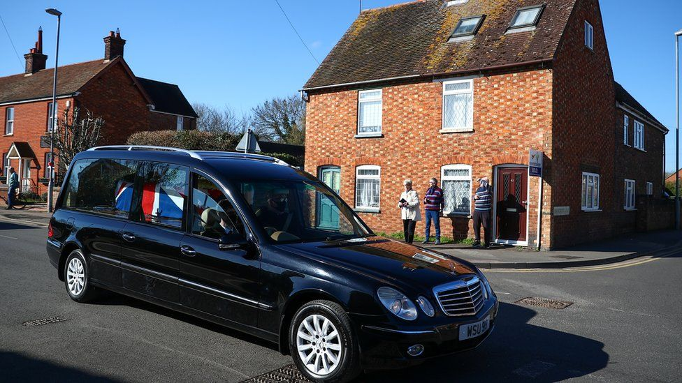 Captain Sir Tom Moore's funeral was driven through the village of Marston Moretaine.