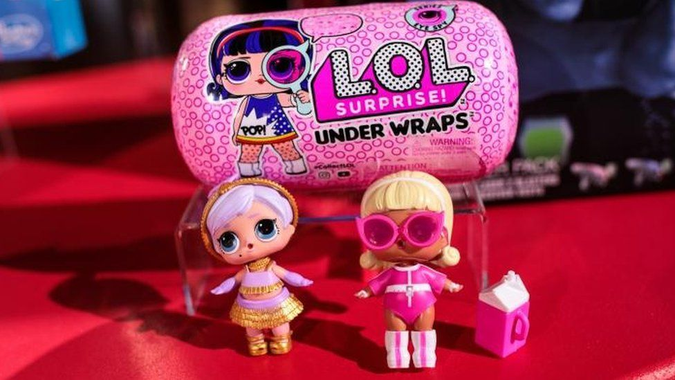"""LOL Surprise toy on display at a """"Dream Toys"""" event"""