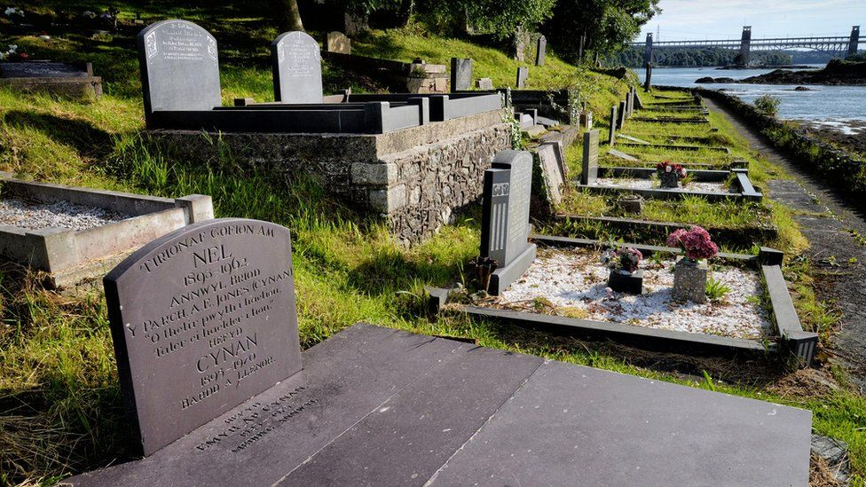 The grave of Albert Evans-Jones 'Cynan'