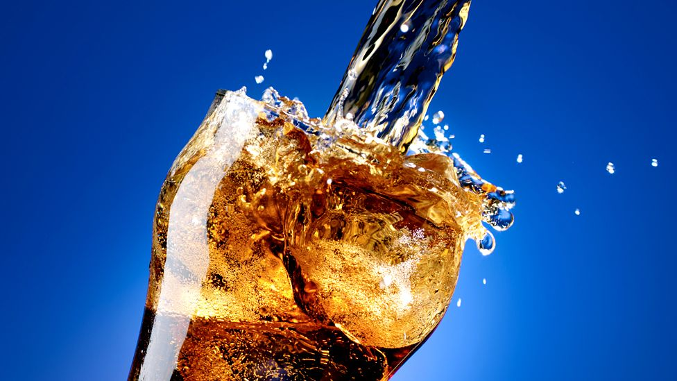 Carbonated drink in a glass