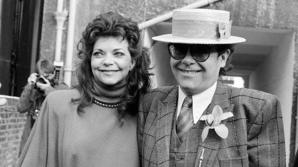 Sir Elton John and Renate Blauel
