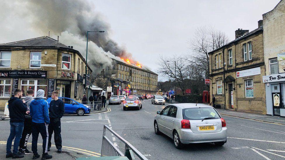 Fire in Bradford