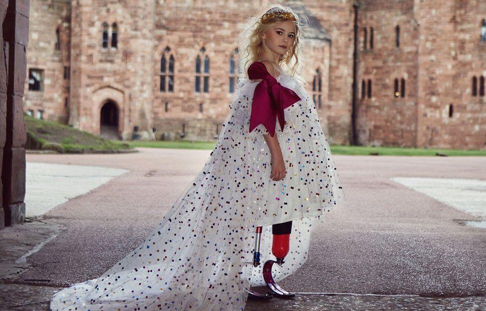 Daisy-May Demetre modelling for Lulu et Gigi at Peckforton Castle