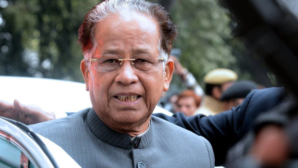 Congress party's Tarun Gogoi is a three-term chief minister