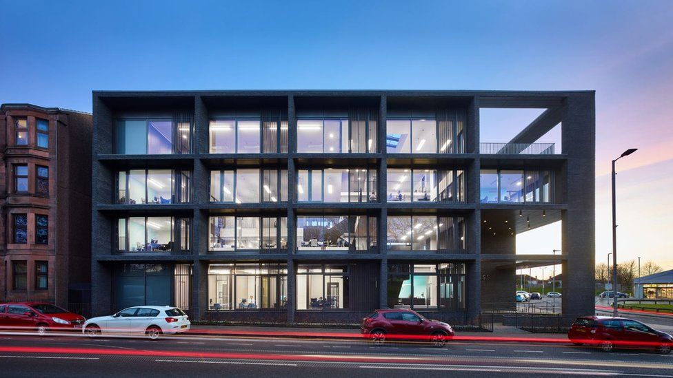 Tollcross Housing Association Offices, Glasgow - contract value £2.92m (Elder and Cannon Architects for Tollcross Housing Association)
