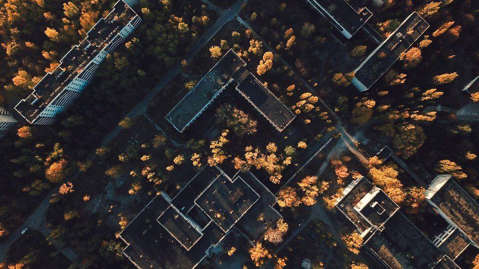 Pripyat drone shot