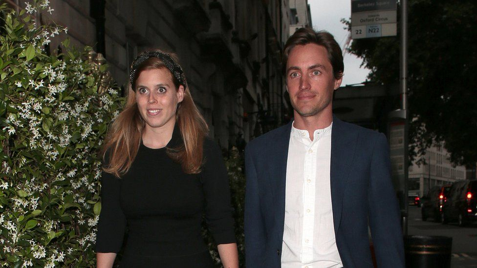 Princess Beatrice and Edoardo Mapelli Mozzi seen on a night out at Annabel's in London, in July 2019