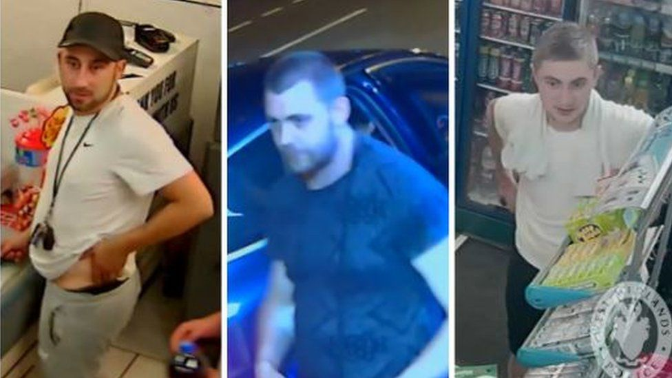 Images of three men police would like to speak to