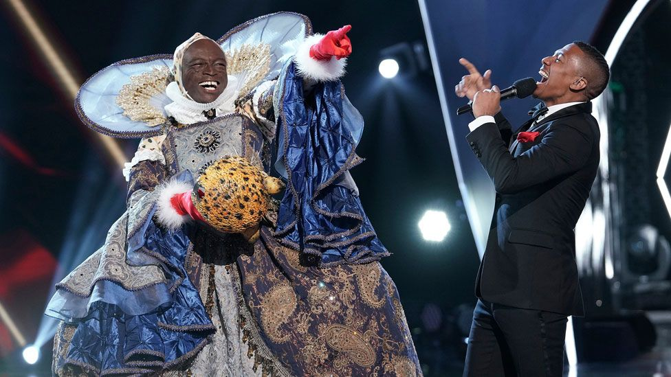 Seal with Nick Cannon on the US version of The Masked Singer