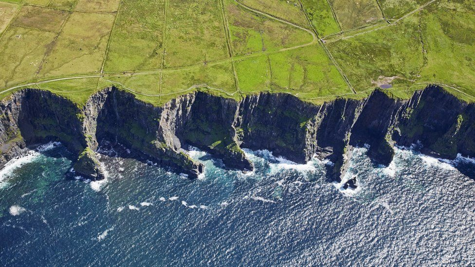 The Cliffs of Moher in the West of Ireland